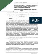 ALGUMAS CONSIDERAÇÕES SOBRE O PROCESSO FORMATIVO DOS ALUNOS DO CURSO DE LICENCIATURA FÍSICA DA UNESP/PRESIDENTE PRUDENTE