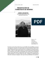 Presentación de Autorretrato de Memoria