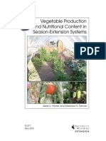 Vegetable Production & Nutritional Content in Season-Extension Systems; Gardening Guidebook for Wyoming
