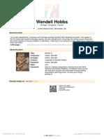 Hobbs Wendell - 'Workin It' - For Saxophone Quartet