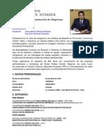 Carlos Alberto Villafuerte Miranda, Hoja de Vida