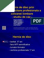 Hernia de Disc - Caz Pacient