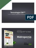 Tecnologia EM Hidroponia Esp EM Effective