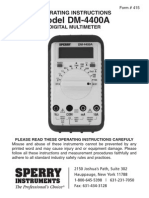 Sperry Instruments Multimeter Manual