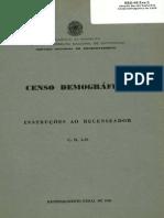 IBGE. Instruções Ao Recenseador - Censo de 1950