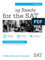 Getting Ready for the Sat by CollegeBoard