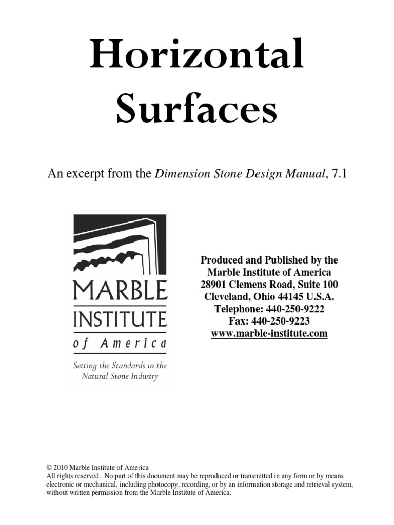 Marble Institute Of America Design Manual
