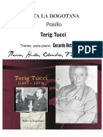 ANITA LA BOGOTANA. Pasillo. Terig Tucci. Transc. para piano, Gerardo Betancourt.