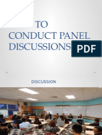 How to Conduct Panel Discussions