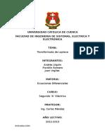 Transformada de Laplace Informe (Autoguardado)