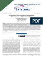 Posthumanism, Transhumanism, Antihumanism, Metahumanism, and New Materialisms by Ferrando