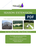 Season Extension for Gardening - A Plain Language Guide from the New Entry Sustainable Farming Project; Gardening Guidebook for Massachusetts