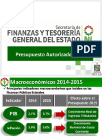 Ley de Presupuesto 2015 - Gobierno de Nuevo León