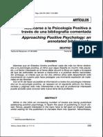 Acercarse a La Psicologìa Positiva a Travès de Una Bibliografìa Comentada (Revisòn)