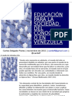 Educación para la Sociedad del Conocimiento en Venezuela