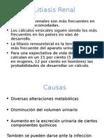 Litiasis renal y neoplasias del tracto urinario.ppt