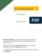 Numerical Methods Intro