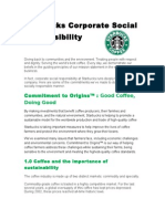 Starbucks Corporate Social Responsibility