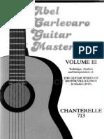 卡巴雷洛《GuitarMasterclassIIIVilla Lobos12Studies》练习曲