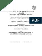 Señalamiento horizontal y vertical vehicular