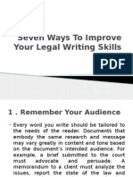 Seven Ways to Improve Your Legal Writing Skills