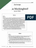 Kill the Mockingbird!