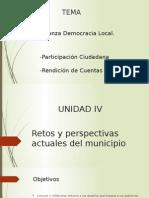 Retos y Perspectivas Actuales Del Municipio
