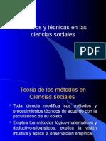 Métodos y Técnicas de las Ciencias Sociales
