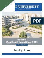SGT University Moot