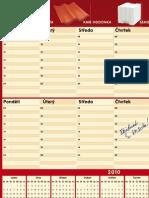 KM Beta - Stolní kalendář 2010