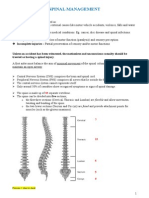 Spinal Management