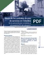Abuso de los contratos de prestación de servicios en Colombia