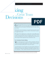 Making Great Team Decisions