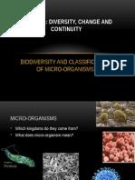 biodiversity of micro-organisms