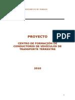 Proyecto Ctro Formac de Conductores de Vehiculos