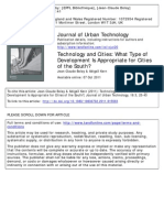 Technologies and cities