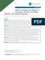 Peer Education on Refugees