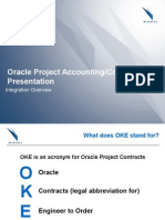 Oracle Project Accounting and Contracts