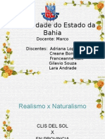 Realismo x Naturalismo Versão Power Point