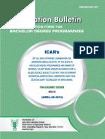 ICAR Exam 2015 Prospectus