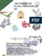 Formas de Poemas de Vanguardia