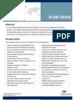 Resume Tracker Brochure
