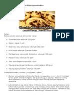 Resep Membuat Chocolate Chips Cream Cookies