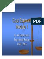Cost Estimate-S1 Module 1