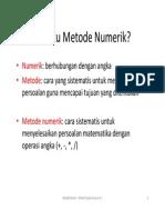 1-Pengantar Metode Numerik