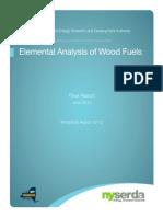 Elemental Analysis Wood Fuel