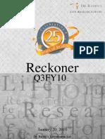 Dr. Reddy's - Q3FY10 Reckoner