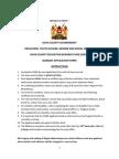 Bursary Application Form 2014-2015