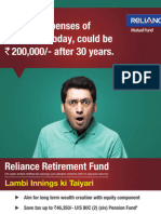 Reliance Retirement Fund Product Note Wealth Advisor Anandaraman 944-529-6519