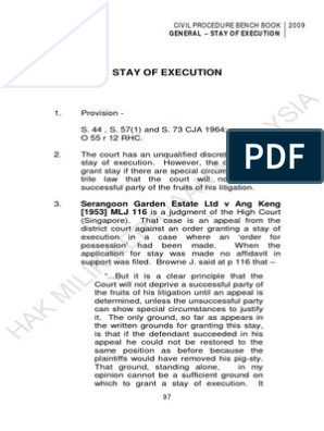20 Stay Of Execution Pdf Judgment Law Lawsuit
